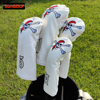 White Golf Club Headcover Set Skull Driver Covers Fairway Wood Cover Hybrid Cover Golf Wood Cover