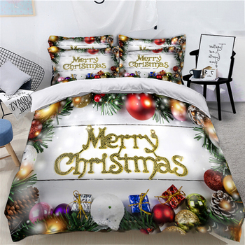 Christmas gift 2/3PCS Bed sheet pillow case set Flannel Mattresses 1.5m/1.8m/2.0m Fabric Solid Fitted Sheet Mattress Cartoon