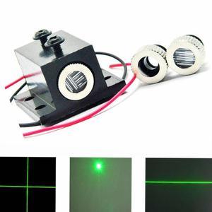 Disipador de calor Dot/Line/Cross 515nm 520nm 50mW DC3.2V Grass Green Módulo de diodo láser enfocable 3 en 1 w