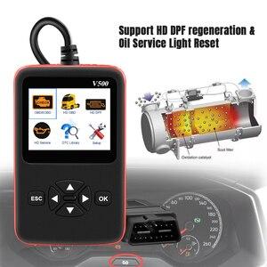 Image 3 - Araba kamyon OBD2 tarayıcı ağır kamyon teşhis kod okuyucu otomatik tarayıcı kamyon ABS DPF yağ işık sıfırlama otomatik teşhis aracı