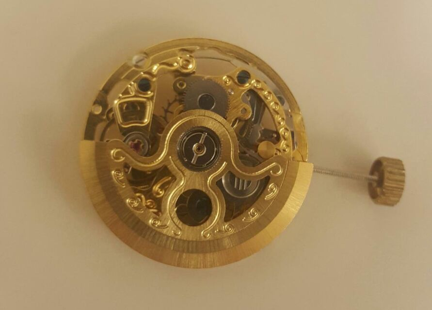 Chinese Mechanical Watch Movement with Silver/Gold Plates CH2189S