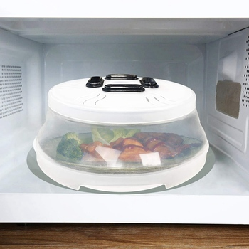 Foldable Microwave Food Cover With Powerful Magnet Used As Microwave