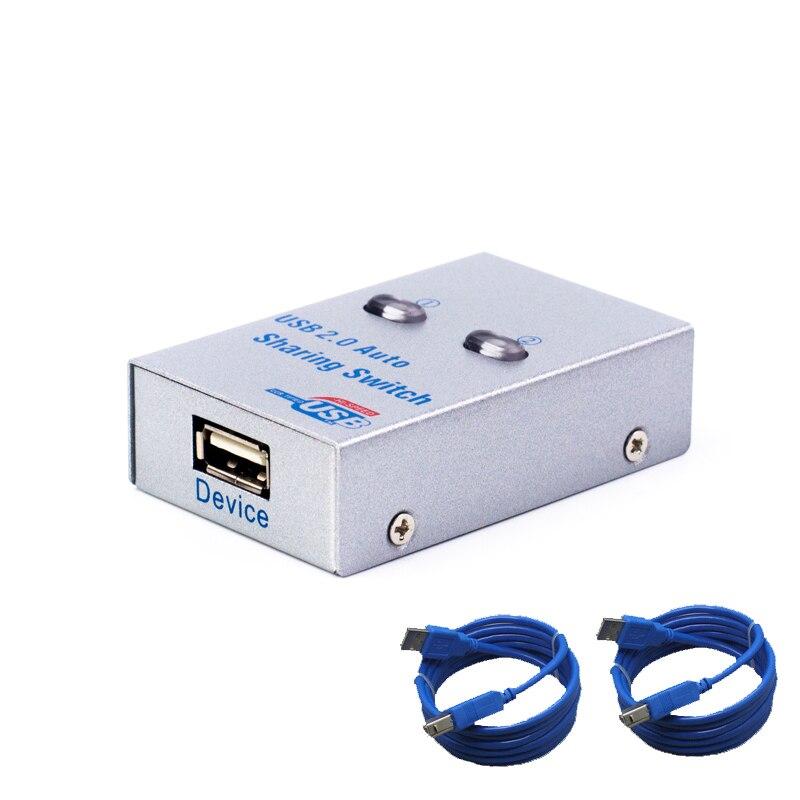 USB Авто переключатель 2 порта usb конвертер сплиттер для 2 ПК поделиться USB периферийные устройства принтера офиса дома usb2.0 концентратор