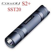 Convoy S2+ Luminus SST20 Led Flashlight 7135 Biscotti Firmware Lantern Camp Tent Mini 18650 Flash Light Tactical Linterna Led