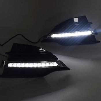 Car LED DRL Daytime Running Light for Ford Kuga 2013-2015 Fog Lamp Frame Fog Light