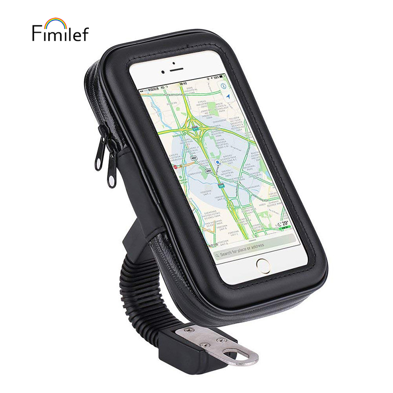 Universal Bike Phone Holder Stand Support 4.7-6.3 Inch Mobile Phone Holder Waterproof Motorcycle Motorbike Scooter Bag Case