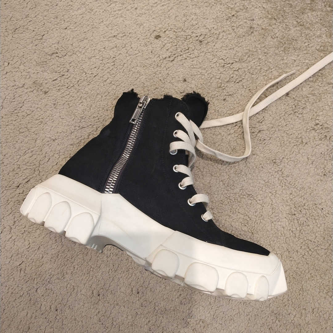 Kış kar botları kadın platform ayakkabılar kadın kalın taban yün Botas Mujer yarım çizmeler Lace Up Botas Feminina rahat bayan ayakkabıları