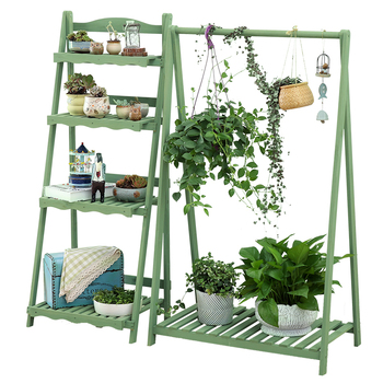 Office Flower Rack Simplicity Solid Wood Swing Flower Rack A Living Room Green Luo Chlorophytum Shelves Flowerpot Frame Indoor
