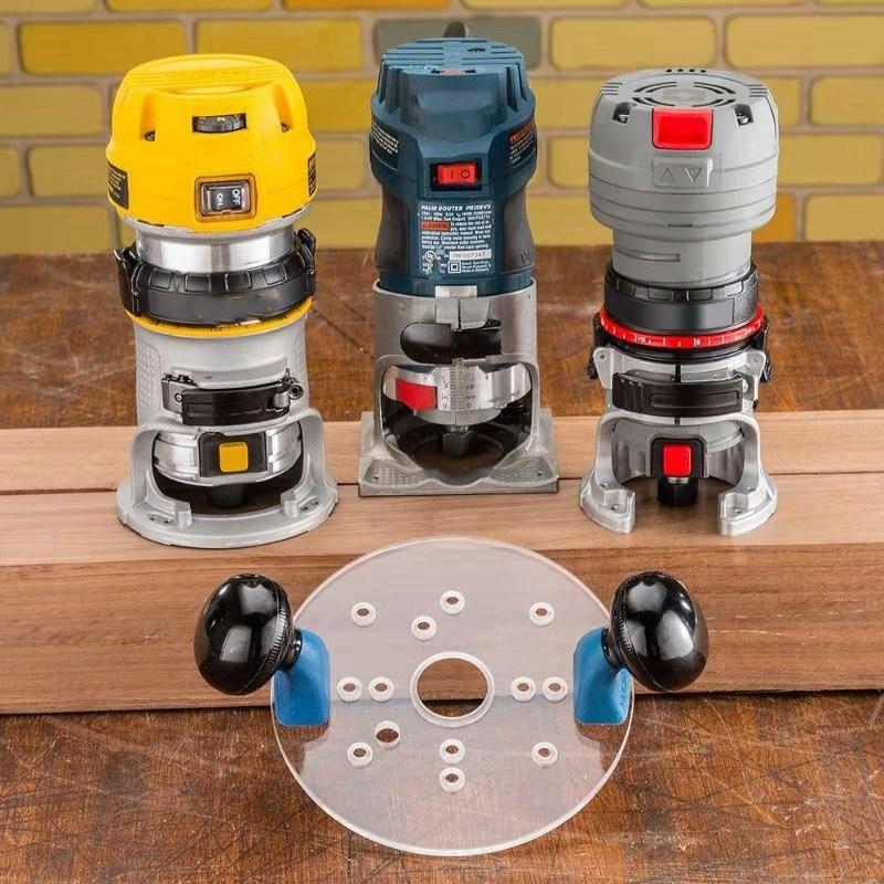 roteadores de guarnição e roteadores compactos, ferramentas para trabalhar madeira