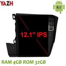 "YAZH 4GB Android 8,1 Unidad de coche Radio para Honda Civic 2012, 2013, 2014, 2015, con 12,1 ""IPS GPS DSP Carplay Android Auto GPS(China)"