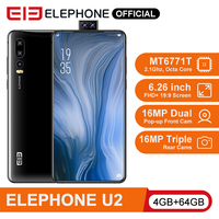 ELEPHONE U2 MT6771T Octa Core Mobile phone 4G/6G 64G/128G 16MP Pop up Cam 6.26 FHD+ Screen Face ID Android 9.0 Smartphone