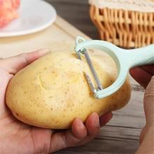 Новинка, 1 шт., практичная Овощечистка из нержавеющей стали для фруктов, овощей, картофеля, устройство для чистки капусты, Овощечистка для са...