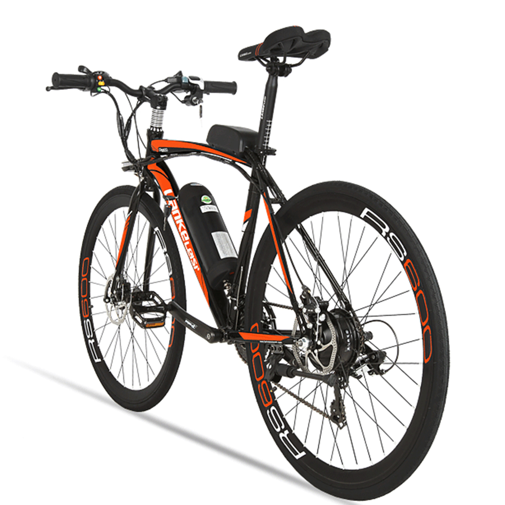 Lankeleisi RS600 Outdoor Cycling Road Bike Electric Bike Road Bicycle 240W*36V*15AH 21 Gears 700C eBike for Man