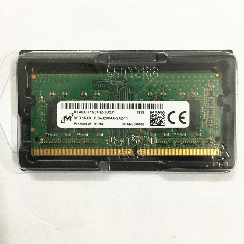 Micron DDR4 8GB 3200MHz RAMS 8GB 1RX8 PC4-3200AA-SA2-11 8 DDR4 3200 GB de memória Portátil