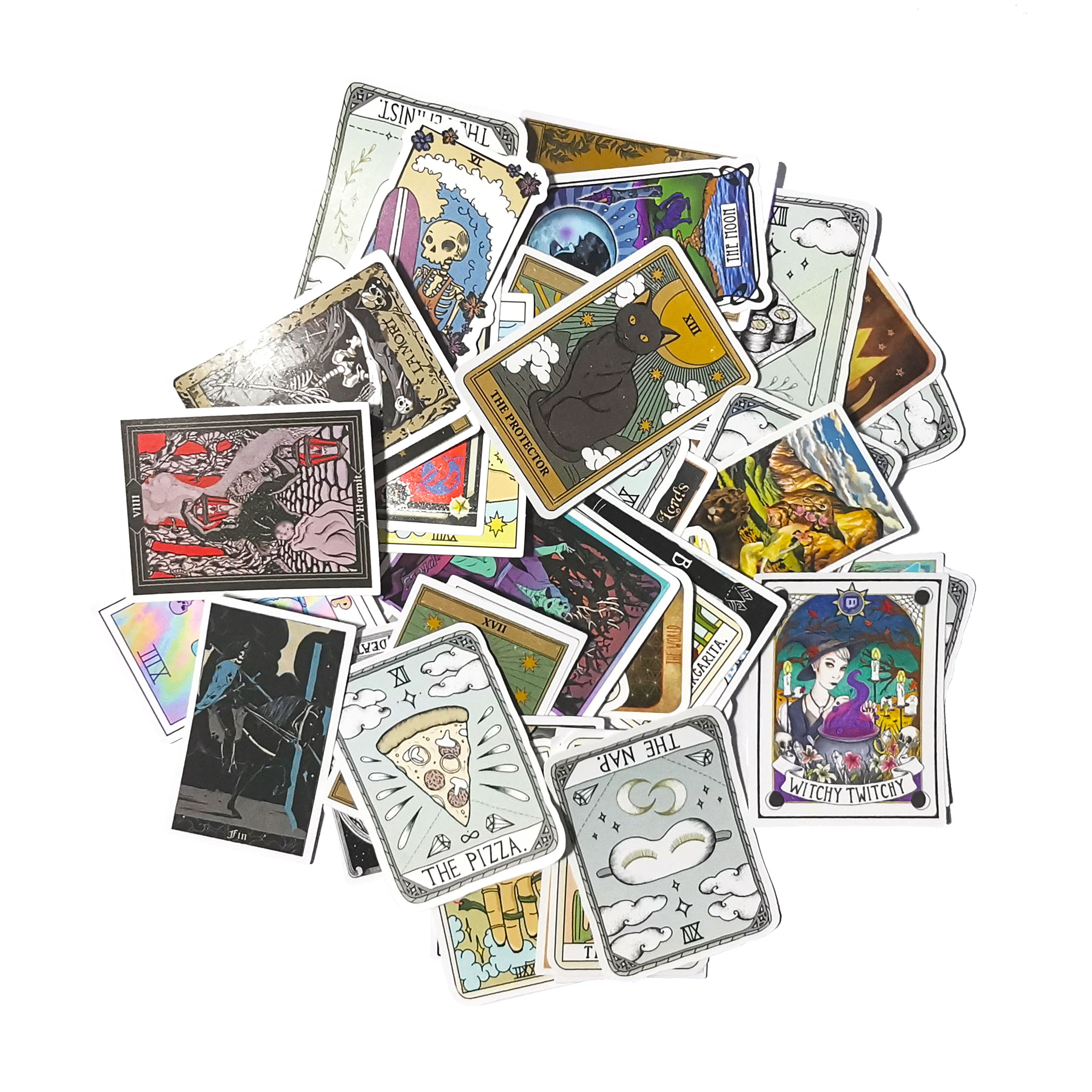 <font><b>50</b></font> pcs Mixed Mini Tarot card <font><b>stickers</b></font> Funny for Car Styling Bike Motorcycle Phone Laptop Travel Luggage Cool <font><b>Sticker</b></font> image