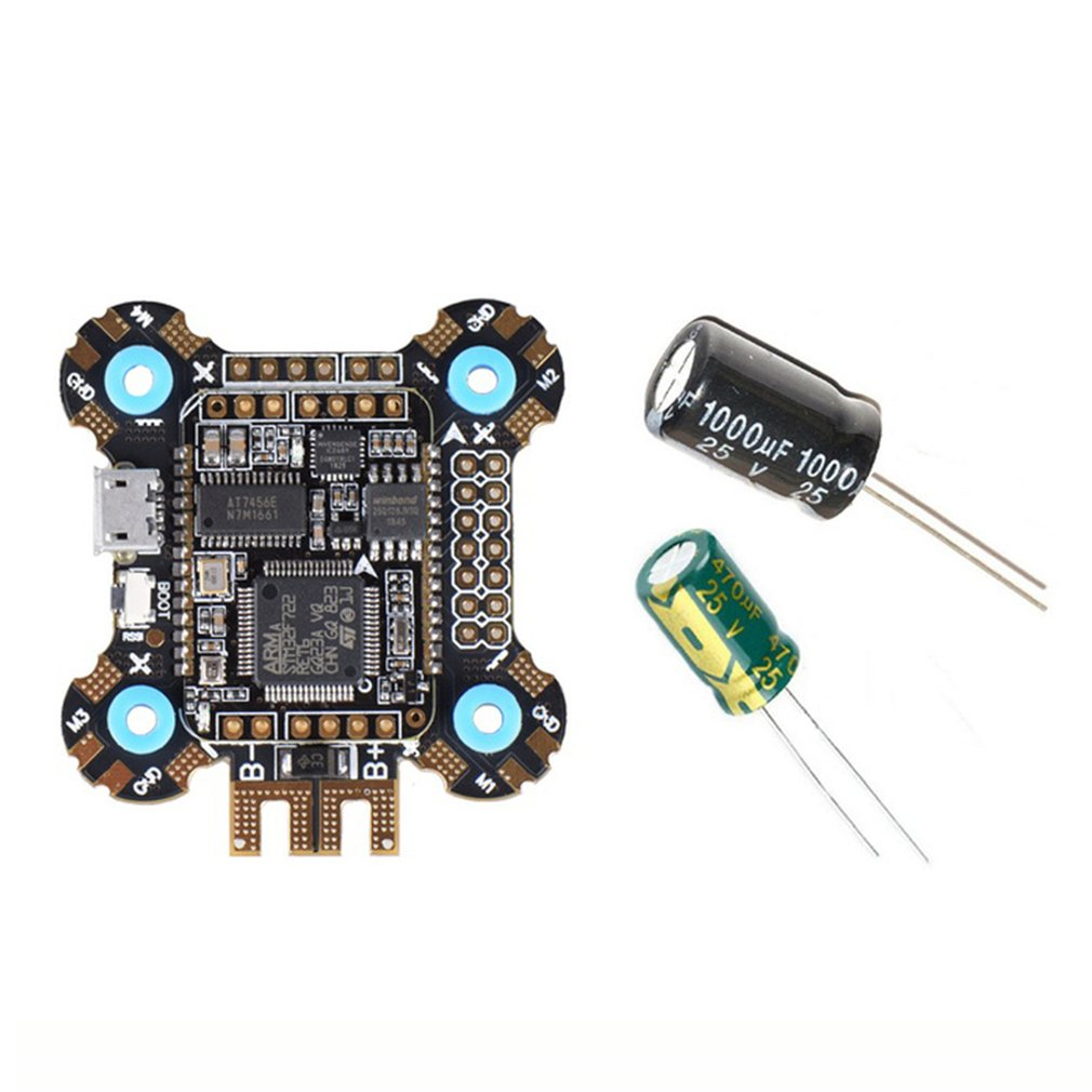 JHEMCU F722 Betaflight F7 Flight Controller 2-6S OSD 5V/2A BEC Current With 25V/1000uF Capacitor 30x30mm For RC Parts