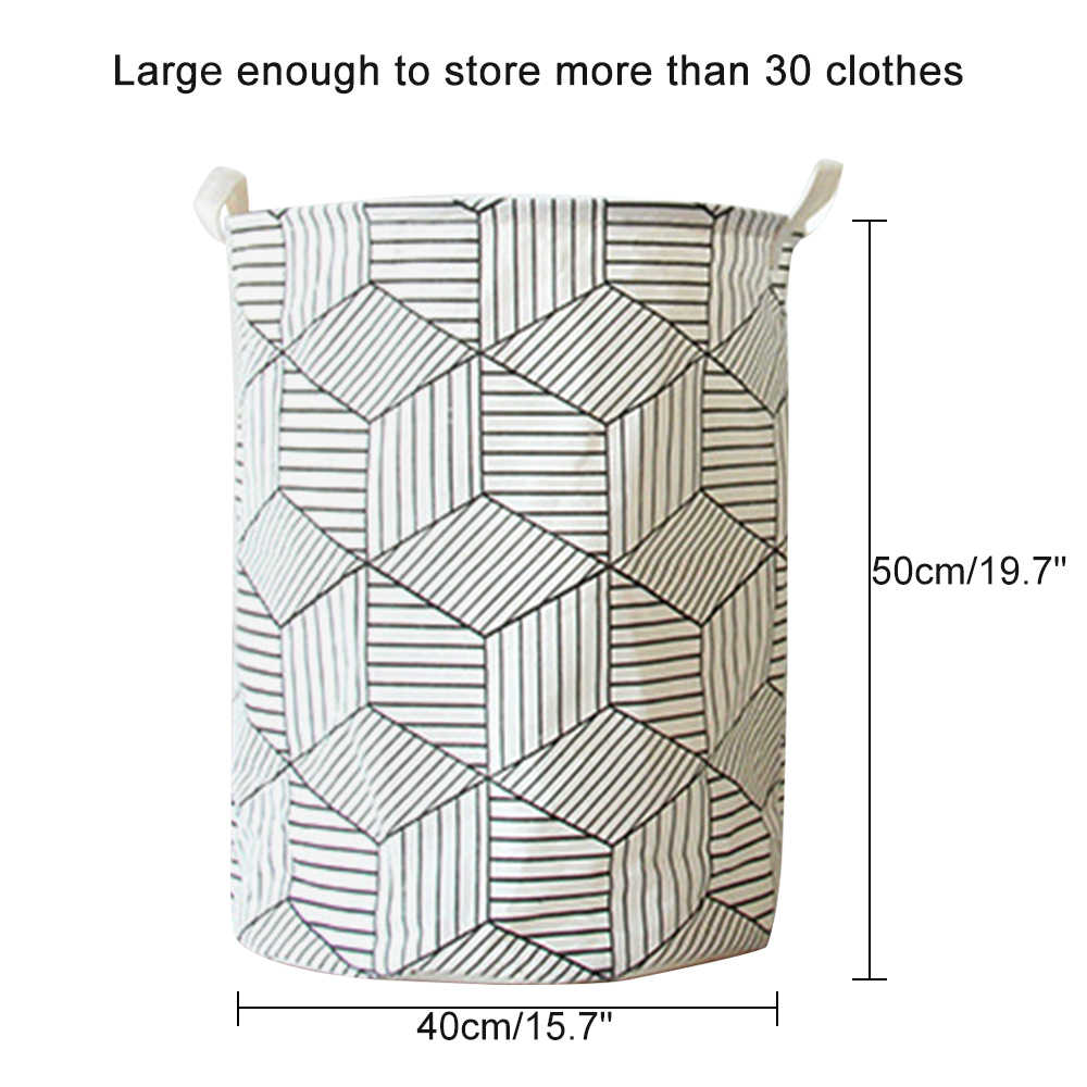 40x50 سنتيمتر هندسية سلة الغسيل القابلة للطي تعوق لطي الملابس دلو المنظم سعة كبيرة جولة بن حقيبة تخزين