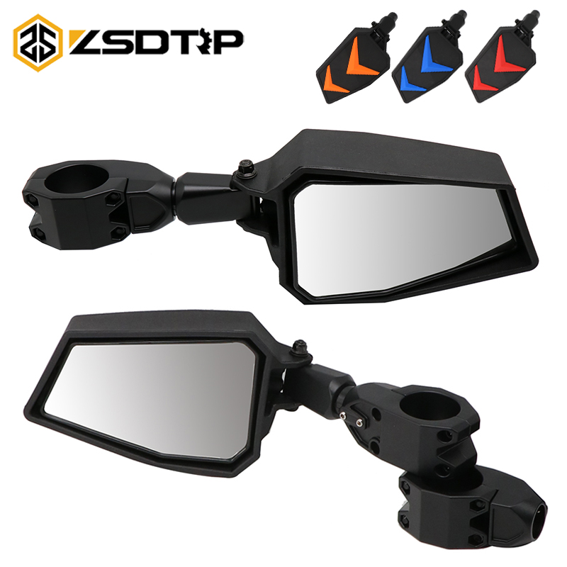 ZSDTRP 1.75 UTV Adjustable Side Mirrors Rear View Mirrors Wide  Mirror for Polairs RZR 1000 XP 900 XP1000 Turbo 2008 2019Side Mirrors