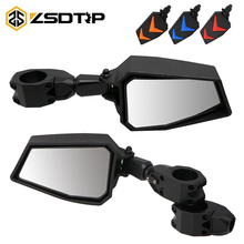"""ZSDTRP 1.75"""" UTV Adjustable Side Mirrors Rear View Mirrors Wide Mirror for Polairs RZR 1000 XP 900 XP1000 Turbo 2008 2019"""