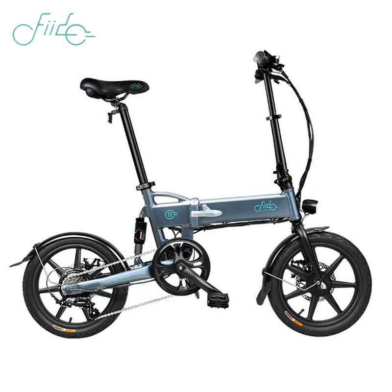 FIIDO D2S Folding Electric Bicycle Gear Shifting Version Double Disc Brakes 7.8Ah Battery 16-inch Tires 250W Motor Max 25km/h