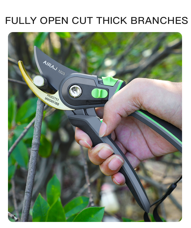 AIRAJ Gardening Scissor for Pruning and Shearing of Branches of Fruit Trees and Plants 9
