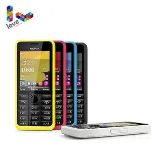 Добавить в «Мои желания» оригинальный Nokia 301 разблокированный мобильный телефон с иврит WCDMA 3MP 2,4 'с одной и двумя сим-картами карты отремонти...