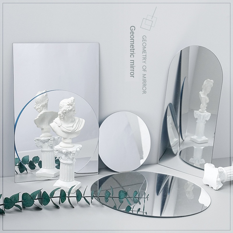 8pcs Acrylic Mirror Reflection Board Reflector Ins Photo Props Photography Background Ornaments Swing Photography Props