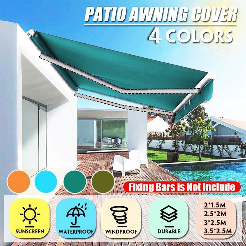 Waterproof Top Cover Canopy Replacement For Garden Patio Courtyard Outdoor Canopy Awning Sun Shade Shelter Fabric Cover