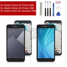 Montaje de digitalizador con pantalla táctil para Xiaomi Redmi Note 5A, pantalla lcd con marco para Redmi Note 5A prime, 2/3/4GB, piezas de reparación
