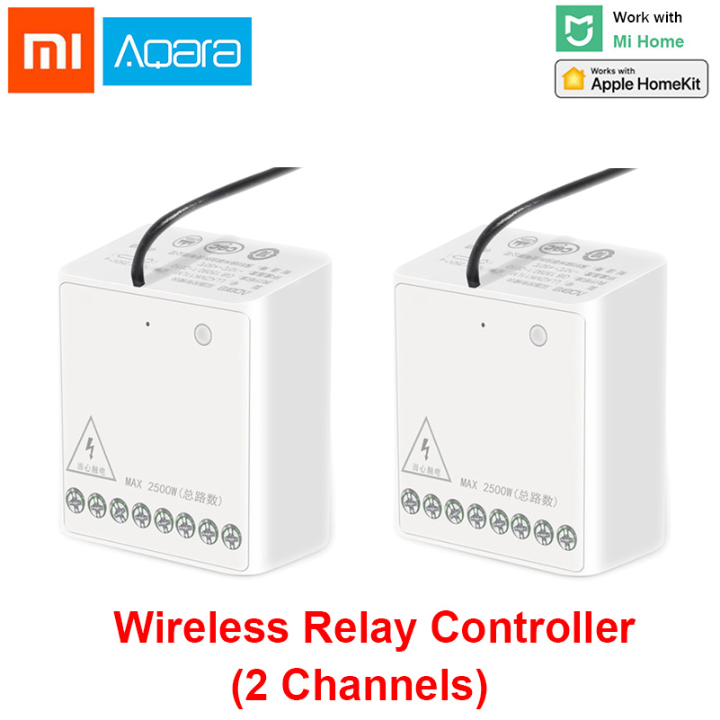 Xiaomi Aqara Wireless Relay Module Controller Smart Setting TimerTwo-way Control 2 Channels Work For Mijia APP And Homekit