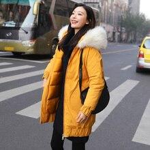 Winter jackets 2019 New mid-long parkas coat thicken warm hooded jacket female outwear