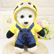 New dog clothes pet dogs and cats dress up as cartoon characters & make your so cute When it runs in yard