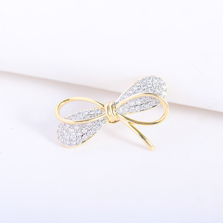Mini Bowknot Brooch Pin for Women's Silver Vitage Brooch Jewelry Clothes Scarf Buckle Garment Accessories Fine Jewelry Gifts-4