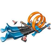 Tren juguetes para niños DIY pista de carreras juego de niños niño de bloques de construcción educativo de los niños regalos de juguetes de bebés