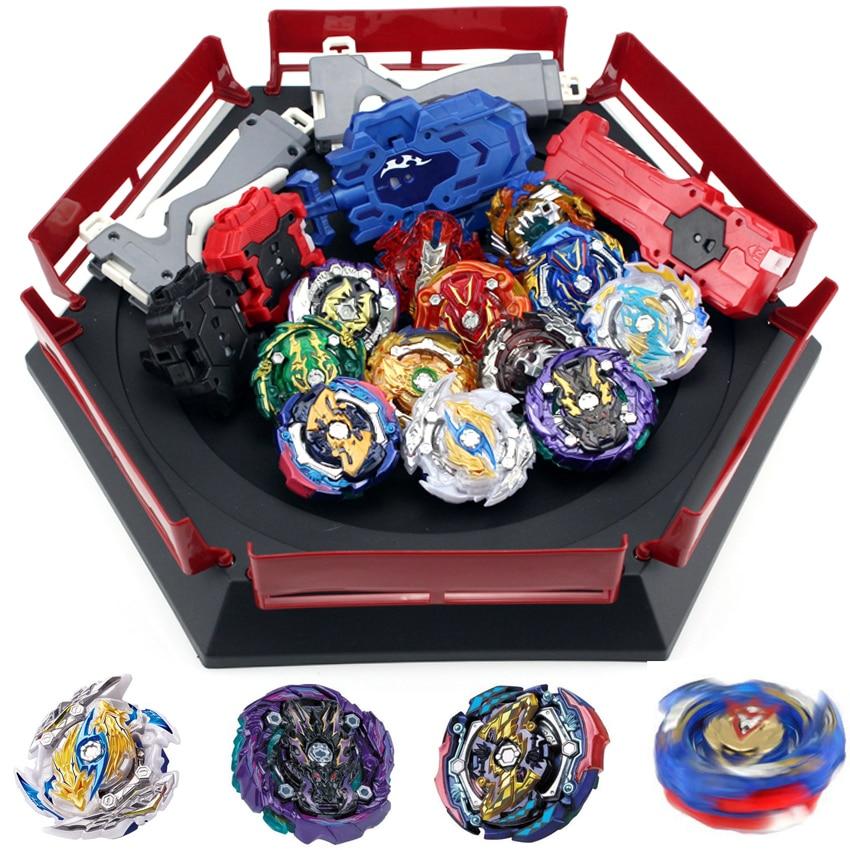 Nouveau jeu de lanceurs en rafale Beyblade jouets lanceurs d'arène Beyblade Toupie métal éclaté Avec dieu filature Top Bey lames jouet
