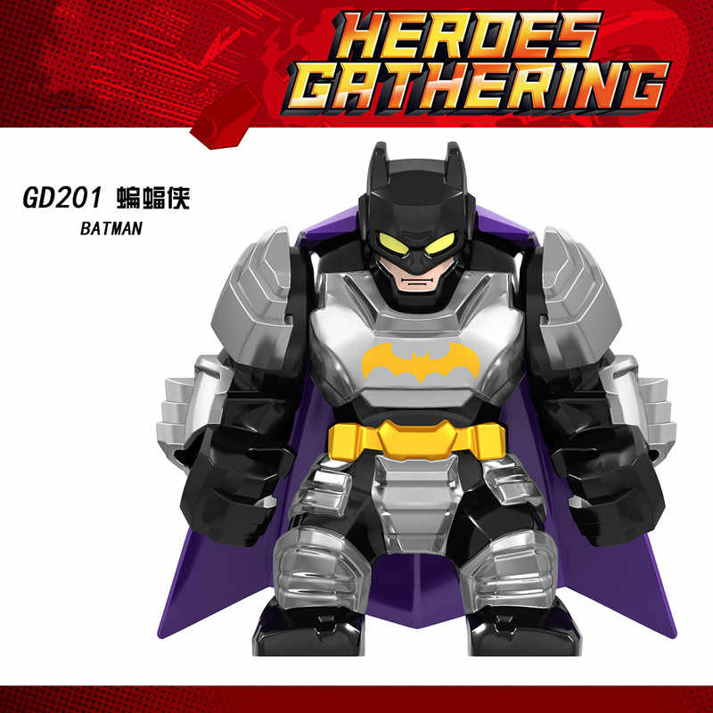 Avengers Endgame duże figury Hulkbuster Thanos Iron Man Spiderman Batman Venom Carnage Marvel superbohaterowie klocki