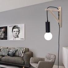Artpad ins стиль деревянный треножник бра с вилкой в современном