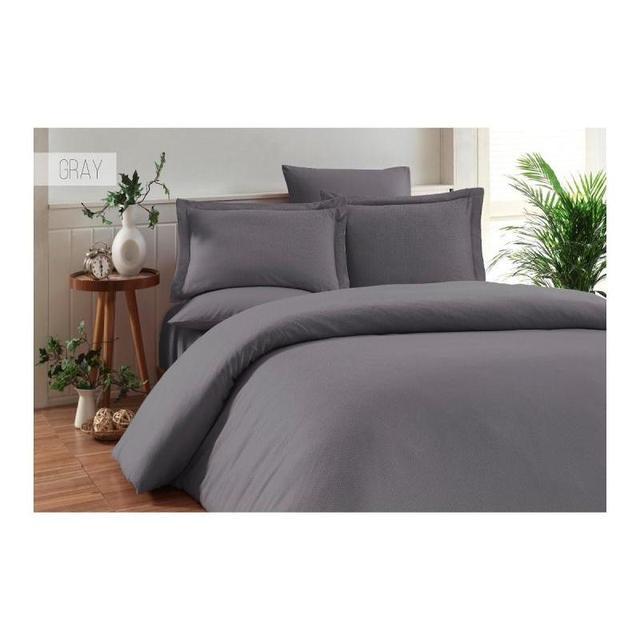 Комплект постельного белья двуспальный-евро KARNA, RUYA, серый