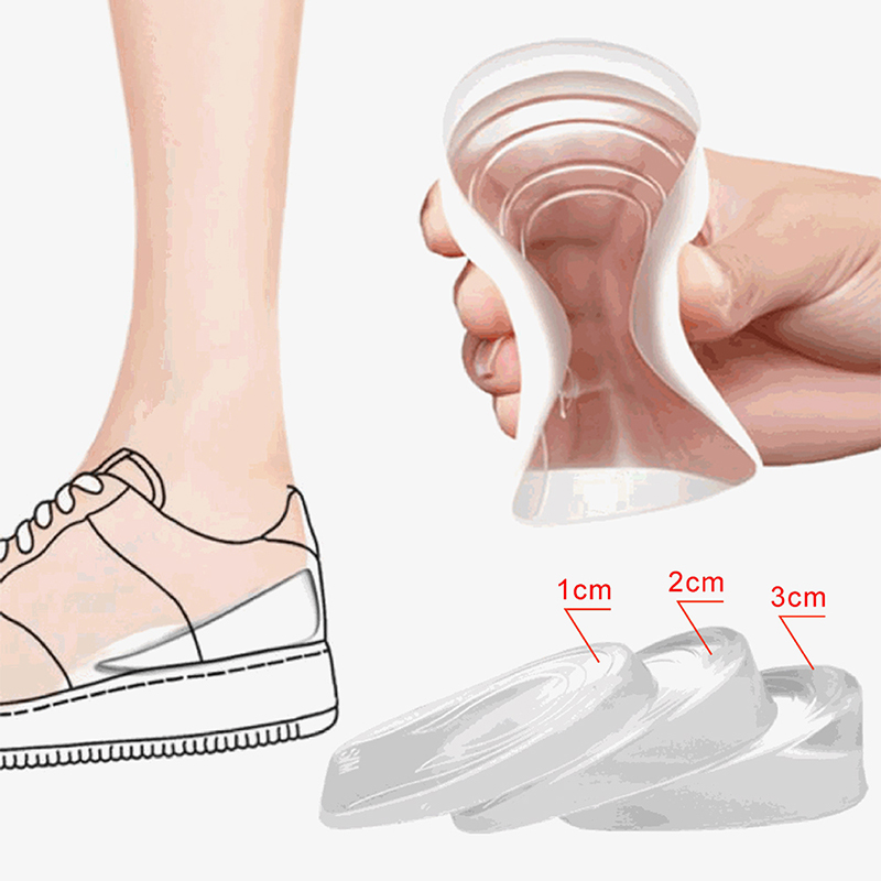 Inner Heightened Insole Orthopedic Massaging Feet Care Invisible Height Increase Foot Pad Shoe Lift Sports Shoes Accessories