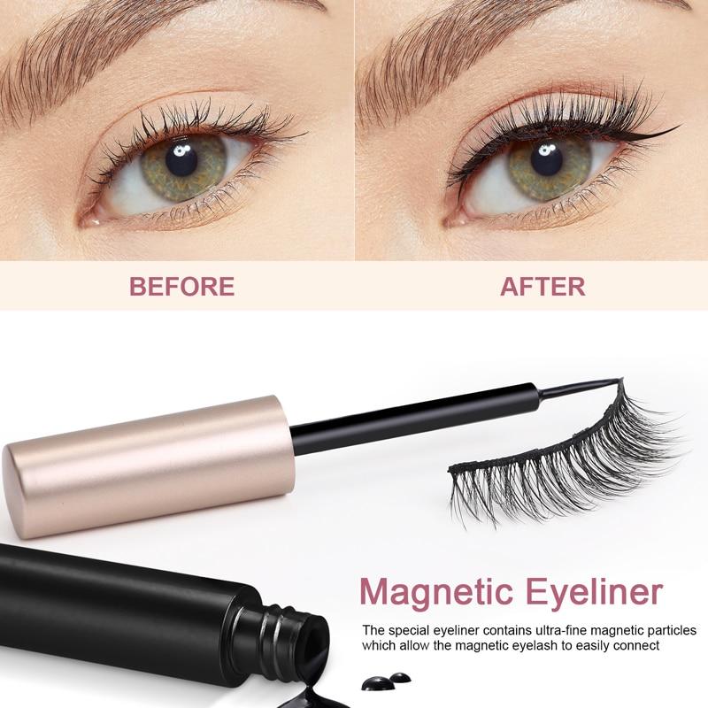 5 Pair Magnetic Eyelashes False Eyelashes Set For Beautiful Women Eyelashes Extension Mink lashes 6
