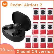10 części/partia Xiaomi Redmi Airdots 2 TWS zestaw słuchawkowy Airdots 2 True Wireless Bluetooth 5.0 Eeaphones Bass Stereo z kontrolą głosu