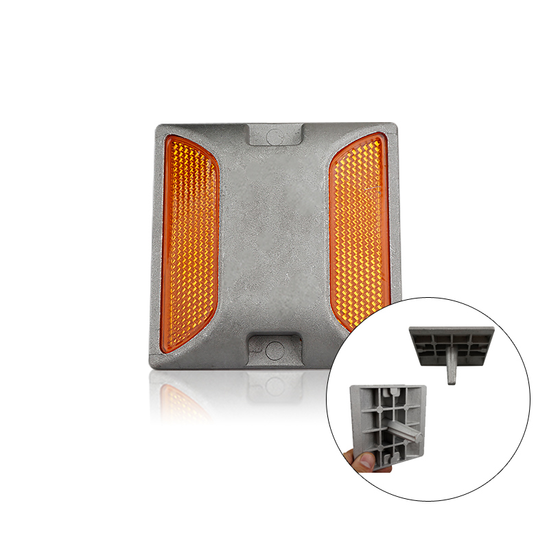 Solar Road Stud Aluminium Plastic Spike High Way Reflective Night Traffic Warning Light Reflective Light