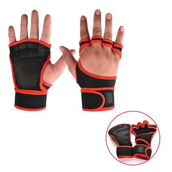 Weight Lifting Training Gloves for Women Men Fitness Sports Body Building Gymnastics Grips Gym Hand Palm Wrist Protector Gloves 5