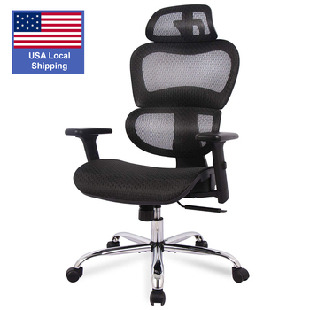 SMUGDESK Ergonomics Mesh Computer office Chair High Back Desk Chair with Adjustable Headrest and Armrest 1