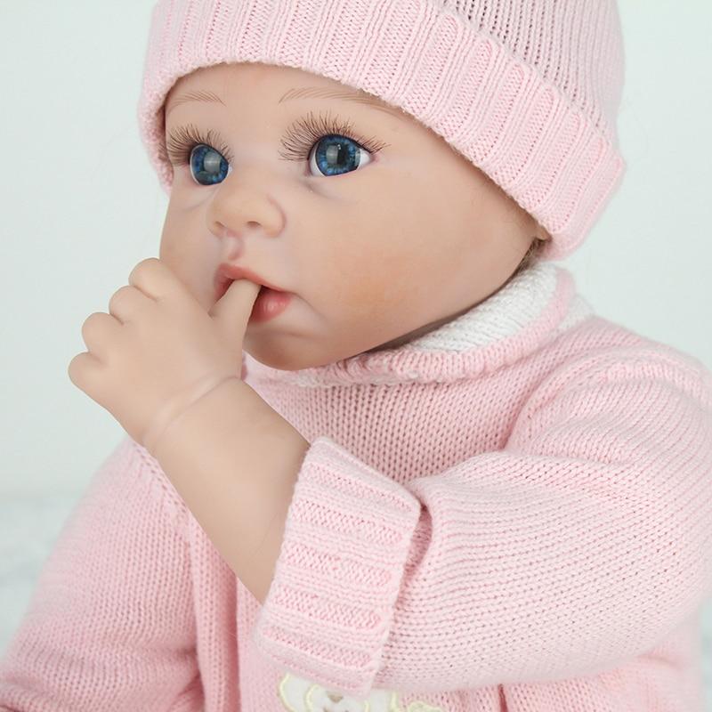 Macio Menina corpo 22 polegada bebes reborn