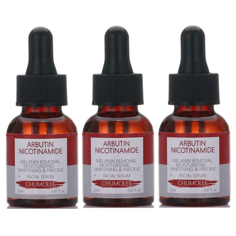 3pcs CHUMOLEE Alpha Arbutin Whitening Serum Freckle Removal Dark Spot Melasma Nicotinamide Anti-wrinkle Face Serum Skin Care