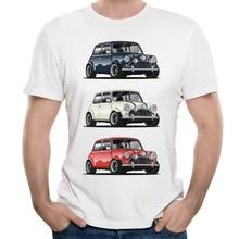 цена Retro THE ITALIAN TRIO Mini Cooper T Shirt Popular Car Hipster Style T-shirt онлайн в 2017 году
