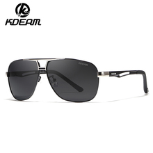 KDEAM Brand Men Aluminum Sunglasses HD Polarized Lens Vintage Eyewear Accessories Fishing Sun Glasses For Men/Women KD8521
