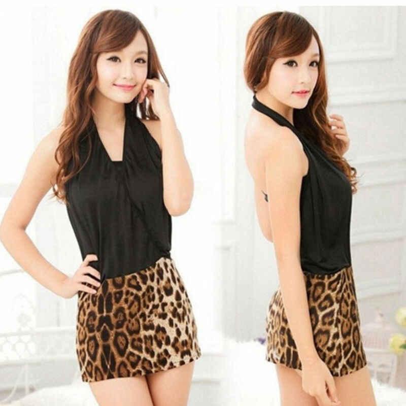 Mode Frauen Sexy Leopard Drucken Hohe Taille Bleistift Damen Bodycon Short Mini Rock NEUE