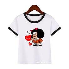 Новое поступление 2021 Забавные футболки для девочек милая графическая